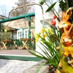 Der Osterhase im Garten