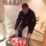 Manfred Anzböck aus Zissersdorf (NÖ) und seine Äpfel
